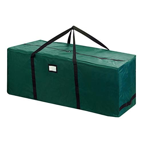 Elf Stor 83-DT5169 Rolling Christmas Storage Duffel Bag with Wheels - Holds up to a 12 Foot Artificial Tree in Green]()