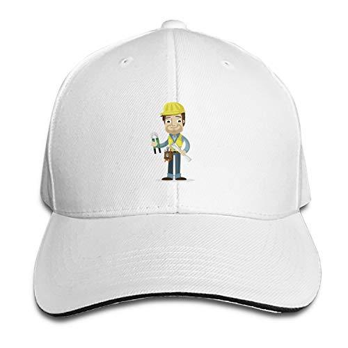 SFSDFS Unisex Cartoon Workers Baseball Cap Dad Hat Peaked Flat Trucker Hats
