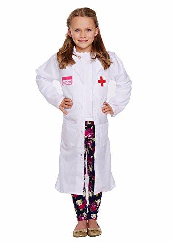 GUBA Big Girls' Doctor Medical Fancy Dress World Book Day Costume Large (Age 10-12) Doctor