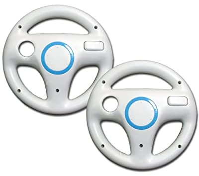 2 Pack Mario Kart Racing Wheel for Wii