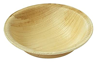 Leaftrend - Ecofriendly disposable palm leaf plates, wedding and party plates - Round Palm Leaf Bowl