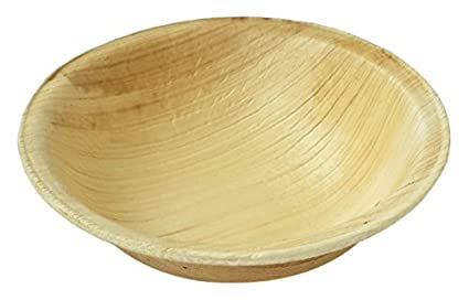 Leaftrend Eco-friendly Disposable Palm Leaf Bowls Wedding and Party Bowls 4  sc 1 st  Amazon.com : eco friendly disposable plates - pezcame.com
