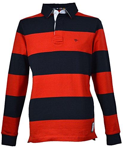 Fynch Hatton Herren Rugby Shirt 151–30013006rot