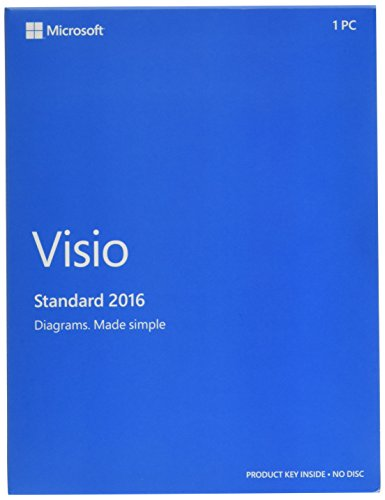Microsoft D86 05555 Visio Standard 2016 Windows English 1 License Medialess