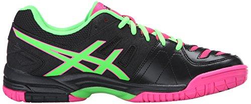 Asics Femmes Gel-dedicate 4 Chaussure De Tennis Noir / Vert Gecko / Hot Pink