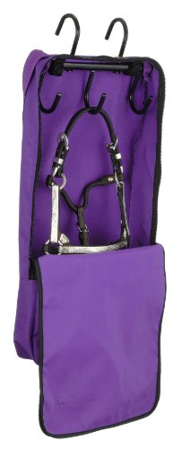 Tough 1 Mini Halter and Bridle Bag with Rack, Purple ()