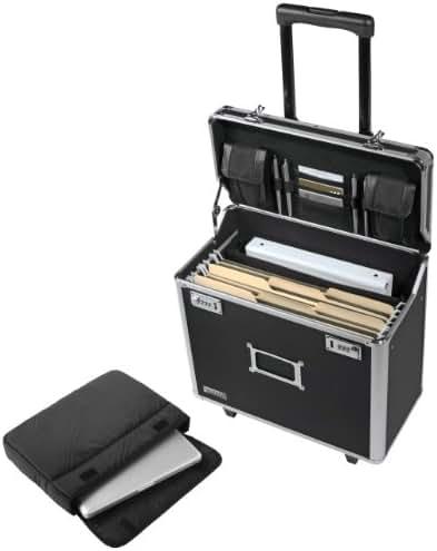 Vaultz Locking Mobile Business Case, Legal Size, 15 x 10 x 16 Inches, Black (VZ00194)