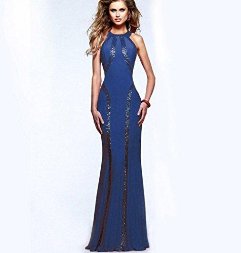 KUKI dünnes 1 Geometrie Kleid weiblich sexy Kleid Abendkleid Nähen gr4g1q