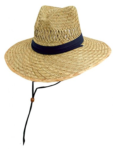 [Safari Rush Straw Sun Hat - Navy - Medium] (Straw Safari Hat)