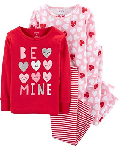 Carter's Baby Girls' 4 Pc Cotton (2T, Be Mine) -