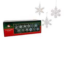 Glass Iridescent Snowflake Ornaments