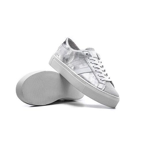 Grey Women's Vertigini Laminated Polvere Di Pelle Sneaker Delle Sneaker Vertigo Grigio Stelle Laminata Date D'argento Donne Data Silver Leather Stardust 4w5n8xzq