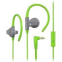 MQbix Earhook Earphones AeroFones Sports with Mic, Green...