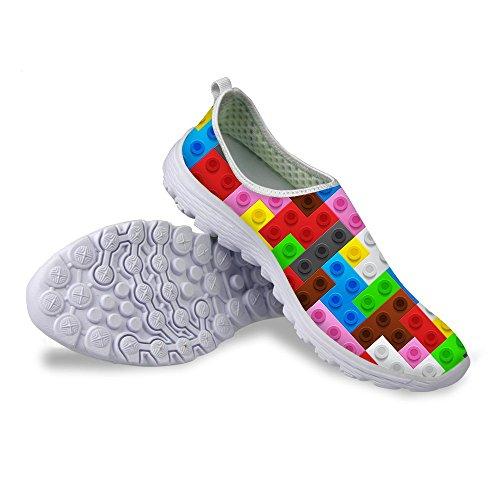 Voor U Ontwerpen Mode Geruite Unisex Ademend Casual Slip Op Loopschoenen Voor Vrouwen Mannen Plaid-3