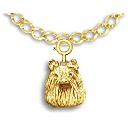 14k Gold Maltese Charm for Charm Bracelet by The Magic Zoo