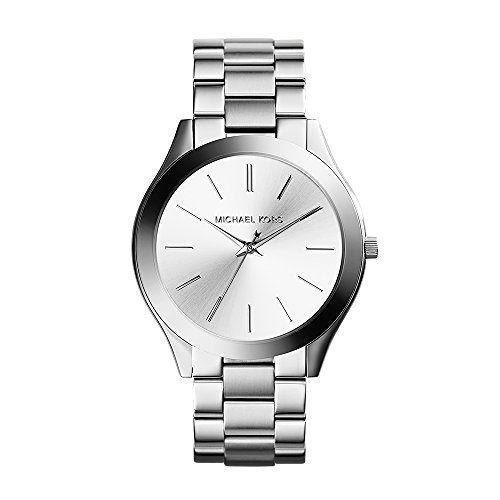 (Michael Kors Women's Runway Silver-Tone Watch)