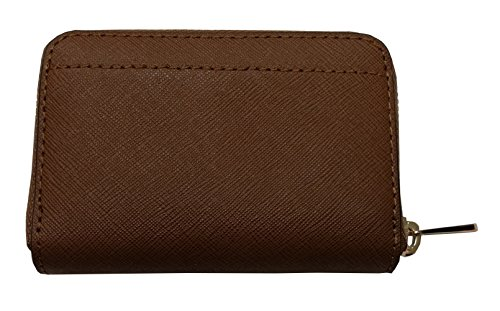 3753c7ea96efa7 Michael Kors Jet Set Travel Zip Around Coin Case Leather Wallet Luggage by Michael  Kors (