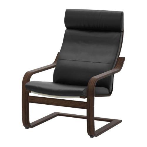 IKEA(イケア) PONG スミーディグ ブラック ブラウン 79860775 アームチェア、ブラウン、スミーディグ ブラック B00JEY9X6U