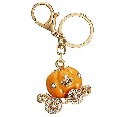 pumpkin car Pendant Keyring Car