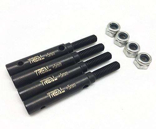 (Treal Steel Stub Axle (Portal Drive) +5mm (4pcs) Set for Traxxas TRX-4 Trail Defender Crawler)