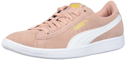 PUMA Women's Vikky Sneaker, Peach Beige White, 7 M US