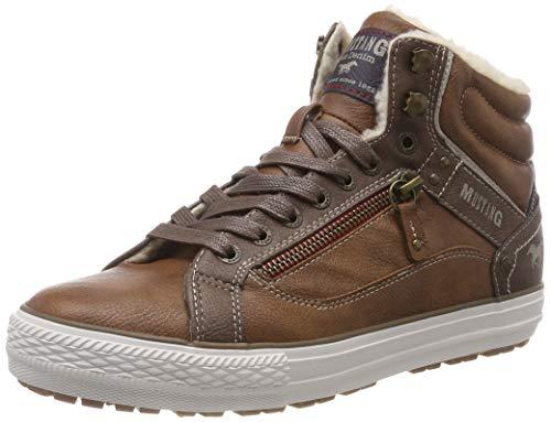 Top Sneaker 307 Mustang Baskets Cognac High Hautes Marron Homme 15wfqx