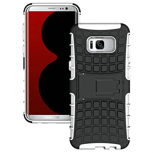 FALIANG Samsung Galaxy J3(2016) Funda, 2in1 Armadura Combinación Neumáticos Patrón A Prueba de Choques Heavy Duty Escudo Cáscara Dura para Samsung Galaxy J3(2016) (Hot pink) Blanco