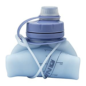 Nathan NS4326 Flexshot Soft Silicone 24 oz Narrow & Wide Mouth Bpa Free Water Bottle, Kentucky Blue