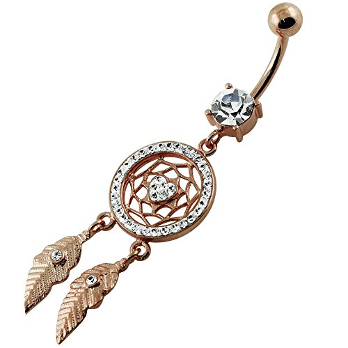 Gold Dangling Belly Ring - 7