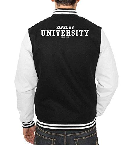 Favelas University College Vest Black Certified Freak