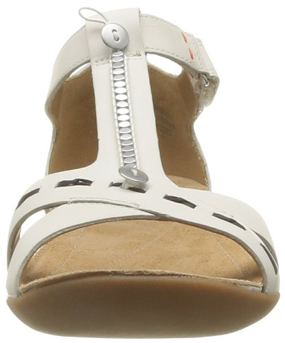 Clarks Raffi Magic 203580564 - Sandalias de cuero para mujer Morado (Violett (White Leather))