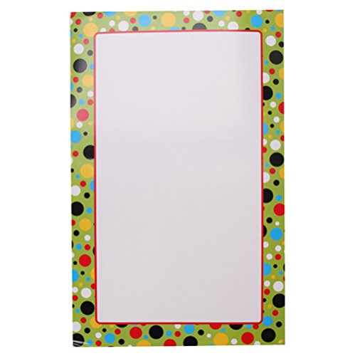 RetailSource DAR016ED72 Learning Chart, Bright Dots Border, 13.75'' x 22'' (Pack of 72) by RetailSource