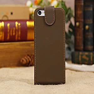 get Luxury Alligator Pattern Wallet Case Wallet Leather Case for iPhone 5C(Assorted Colors) , Brown