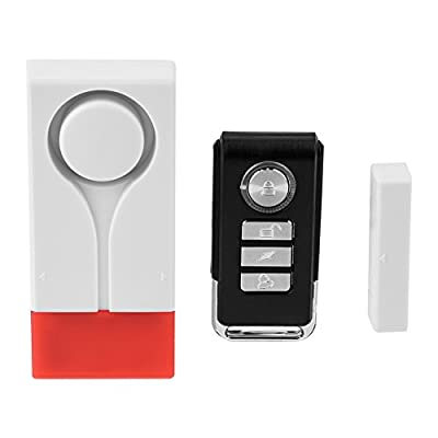 Wireless Door Window Sensor Chime kit, Burglar Alarm Security System Vibration Magnet Sensor + Remote Control for Home/Office/Stores