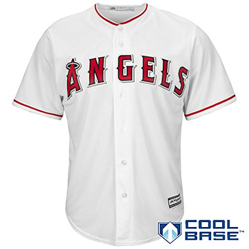 Los Angeles Angels of Anaheim MLB Men's Big and Tall Cool Base Home Team Jersey White (4XT)