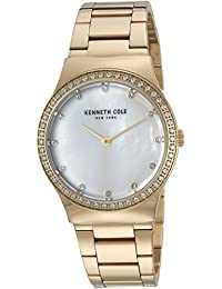 Women's Quartz Stainless Steel Casual Watch, Color:Gold-Toned (Model: KC50061001)