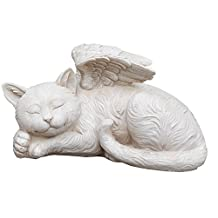 Napco 11145 Sleeping Angel Cat with Wings Garden Statue, 9.75 x 5""
