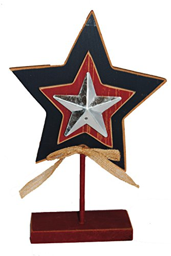 Cheap  Nantucket Home Standing Tabletop Patriotic Wooden Star Decoration