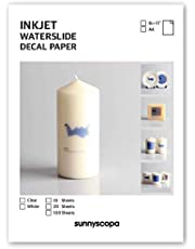 Sunnyscopa - Papel para impresora de inyección de tinta (A4), color transparente 20 sheets