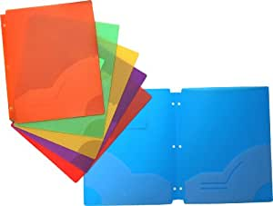 Filexec Two Pocket Folder, Three Hole Punched, Assorted Colors, 12 Pack (50120-3197)