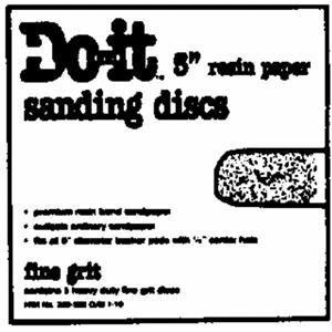"""UPC 009326301068, 5"""" Do it Sanding Discs, 5"""" 60G SANDING DISC"""