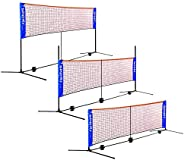 20ft Wide Badminton Tennis Net Set Portable Folding Height Adjustable 2.8-5ft Net Stand with Carrying Bag Avai