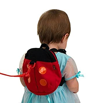 Amazon.com : Walking Leash Backpack for Babies and Toddlers (ladybug) : Baby