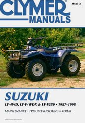 Clymer m4832 manual suz king quad/runner (Quad Suz King)