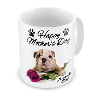 Día de la madre regalo–Happy día de la madre de la taza de perro