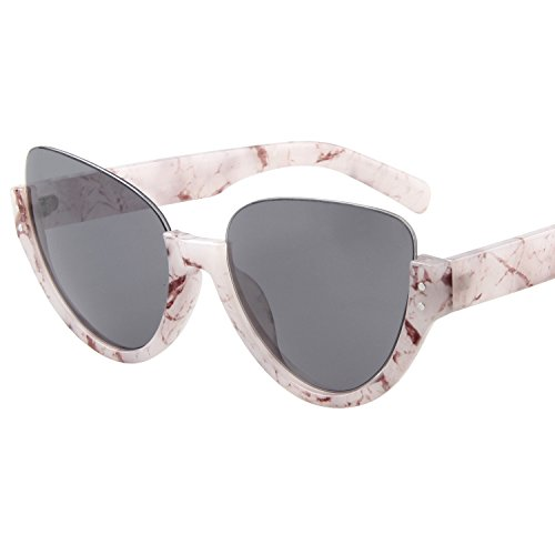 Sol de Gafas Aviator único nbsp;Gris Protección UV Half Gafas LianSan Frame ls4703 OItqq