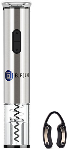Electric Wine Opener, Corkscrew Bottle Opener with Foil Cutter,Easy to Use Battery Powered Wine Bottle Cap Opener (Stainless Steel ) Review