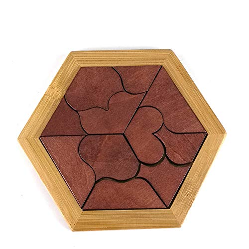 VT BigHome Funny Puzzles Wood Geometric Abnormity Shape Puzzle Wooden Toys Tangram Board Kids Children Educational Toys for Boys by VT BigHome