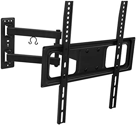 Mount-It MI-3991B Full Motion 180 Deg. Swivel TV Wall Mount Bracket w Extending 17-Inch Tilting Articulating Arm for 26-55 Inch LED, LCD, 4K TVs