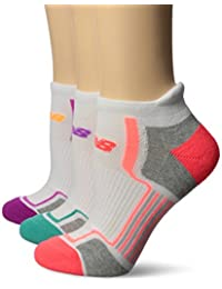 New Balance Women's 3 Pack Performance Low Cut Socks with Tab
